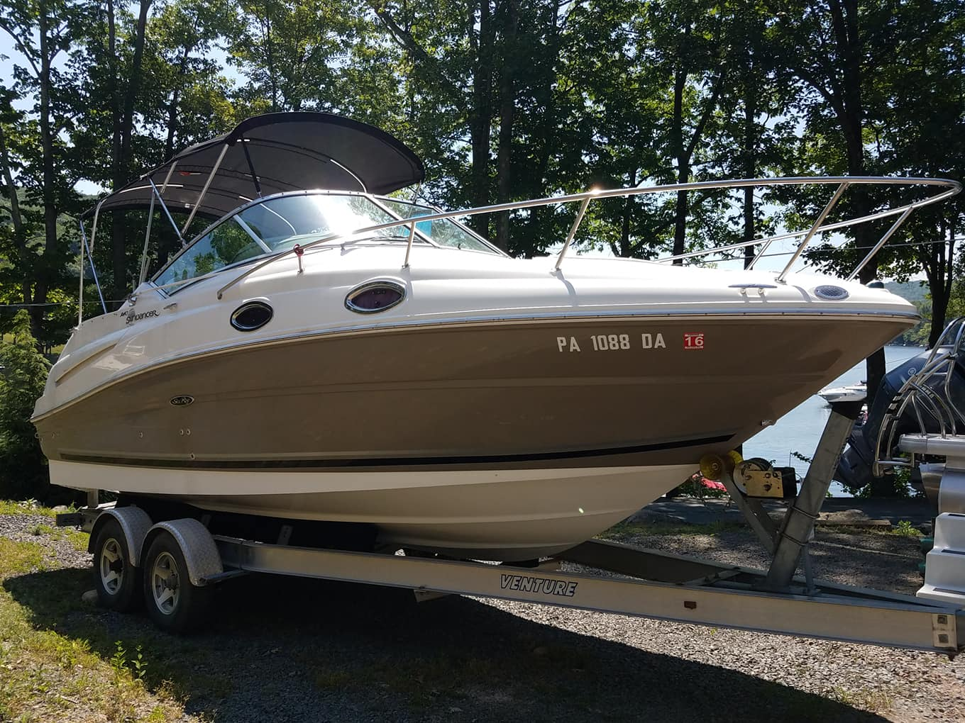 Preowned Boats For Sale Wallenpaupack Northeast Pa Yamaha Jet Boat Dual Battery Wiring Diagram Butane Stove Top 25 Gal Fresh Water Holding Tank Batteries W Charger Heating A C 12000 Btu Hotwater Heater Pump Out Headvery Clean