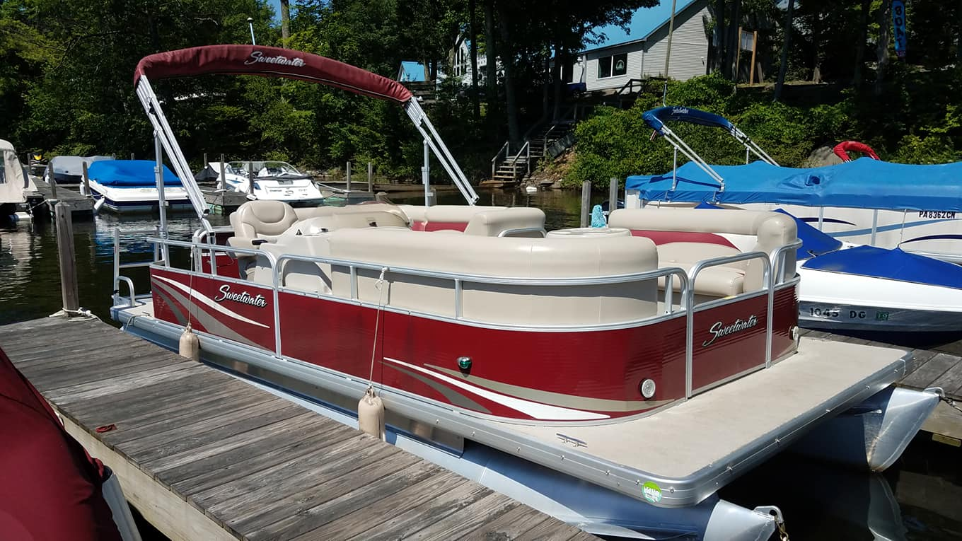 Preowned Boats For Sale Wallenpaupack Northeast Pa Yamaha Jet Boat Dual Battery Wiring Diagram 2012 Sweetwater 2086c3 Powered By 75 2 Tubes 33 Engine Hours Bimini Top Stereotraditional Floor Plan Full Coverasking 14900